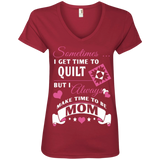 Time-Quilt-Mom Ladies V-neck Tee - Crafter4Life - 4