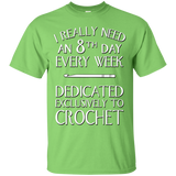 8th Day Crochet Custom Ultra Cotton T-Shirt - Crafter4Life - 6