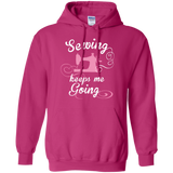 Sewing Keeps Me Going Pullover Hoodies - Crafter4Life - 1
