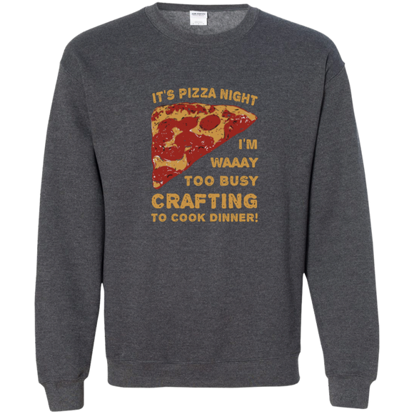 Pizza Night Crewneck Pullover Sweatshirt  8 oz.
