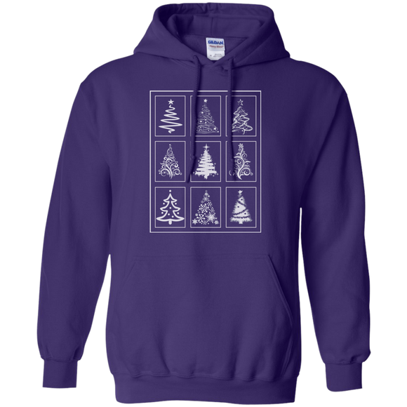 Christmas Tree Quilt Pullover Hoodie