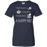 A Happy Me Ladies Custom 100% Cotton T-Shirt - Crafter4Life - 9