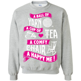 A Ball of Yarn, A Happy Me Crewneck Sweatshirts - Crafter4Life - 2