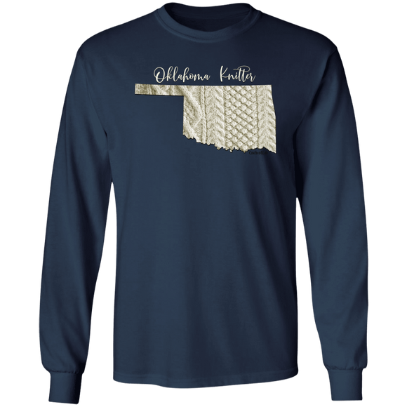 Oklahoma Knitter LS Ultra Cotton T-Shirt