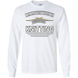 I Am Happiest When I'm Knitting Long Sleeve Ultra Cotton T-Shirt - Crafter4Life - 3