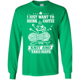 Coffee-Knit-Nap Long Sleeve Ultra Cotton T-Shirt - Crafter4Life - 1