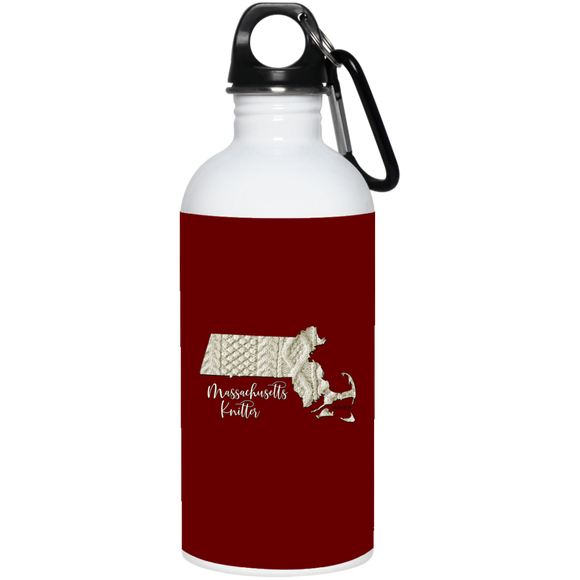 Massachussetts Knitter Stainless Steel Water Bottle