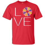 LOVE Quilting (Primary Colors) Custom Ultra Cotton T-Shirt - Crafter4Life - 9