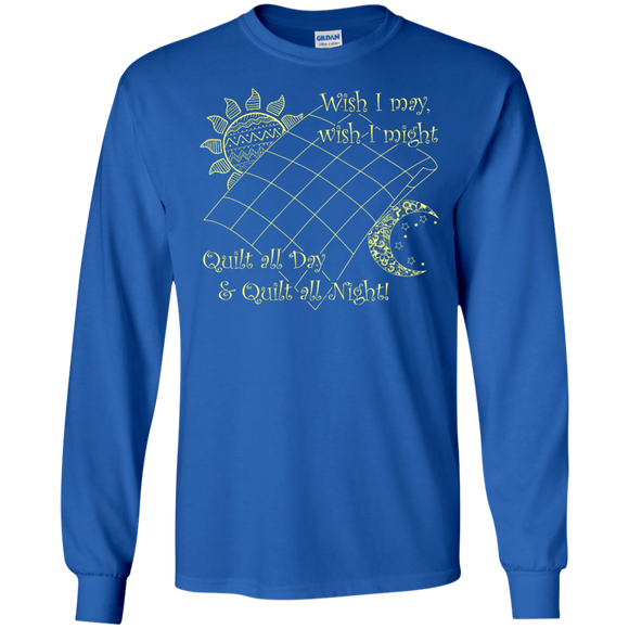 Wish I May Quilt Long Sleeve Ultra Cotton T-Shirt - Crafter4Life - 1