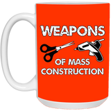 Weapons of Mass Construction White Mugs