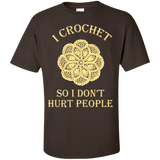 I Crochet So I Don't Hurt People Custom Ultra Cotton T-Shirt - Crafter4Life - 5