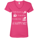 A Happy Me Ladies V-neck Tee - Crafter4Life - 3
