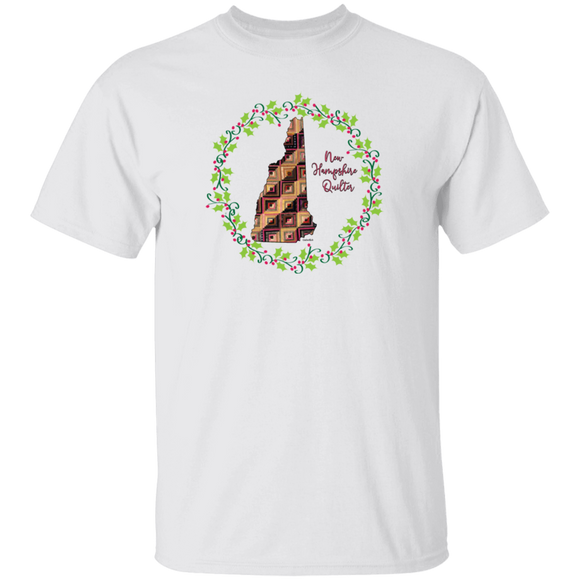 New Hampshire Quilter Christmas T-Shirt