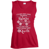 I Shop Faster than I Quilt Ladies Sleeveless V-neck - Crafter4Life - 4