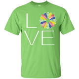 LOVE Quilting (Primary Colors) Custom Ultra Cotton T-Shirt - Crafter4Life - 5
