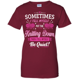 Put the Knitting Down Ladies Custom 100% Cotton T-Shirt - Crafter4Life - 1