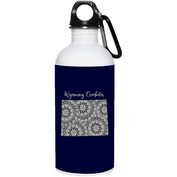 Wyoming Crocheter 20 oz. Stainless Steel Water Bottle