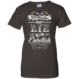 Scrapbookers Don't Lie Ladies Custom 100% Cotton T-Shirt - Crafter4Life - 4