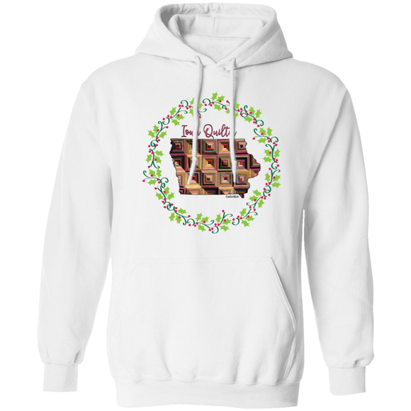 Iowa Quilter Christmas Pullover Hoodie