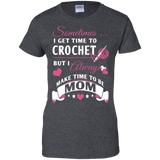 Crochet Mom Ladies Custom 100% Cotton T-Shirt - Crafter4Life - 5
