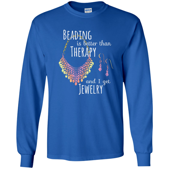 Beading is Better than Therapy LS Ultra Cotton T-Shirt