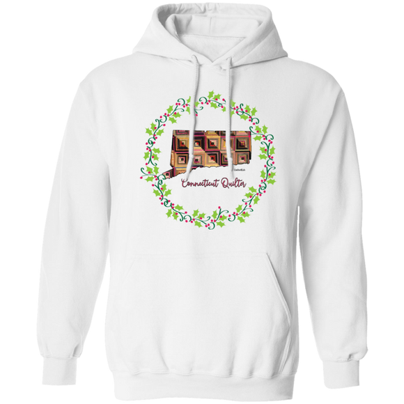 Connecticut Quilter Christmas Pullover Hoodie