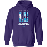 Winter Forecast Quilting Flurries Pullover Hoodie