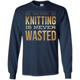 Time Spent Knitting Long Sleeve Ultra Cotton T-Shirt - Crafter4Life - 6
