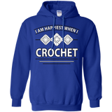 I Am Happiest When I Crochet Pullover Hoodies - Crafter4Life - 9