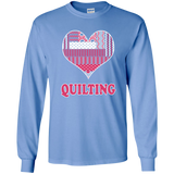 Heart Quilting Long Sleeve Ultra Cotton T-Shirt - Crafter4Life - 8