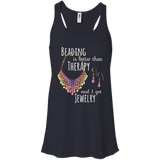 Beading is Better than Therapy Flowy Racerback Tank
