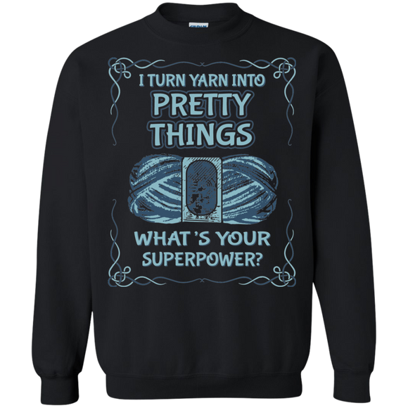 Pretty Things Crewneck Pullover Sweatshirt