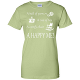 A Happy Me Ladies Custom 100% Cotton T-Shirt - Crafter4Life - 11