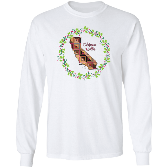 California Quilter Christmas LS Ultra Cotton T-Shirt