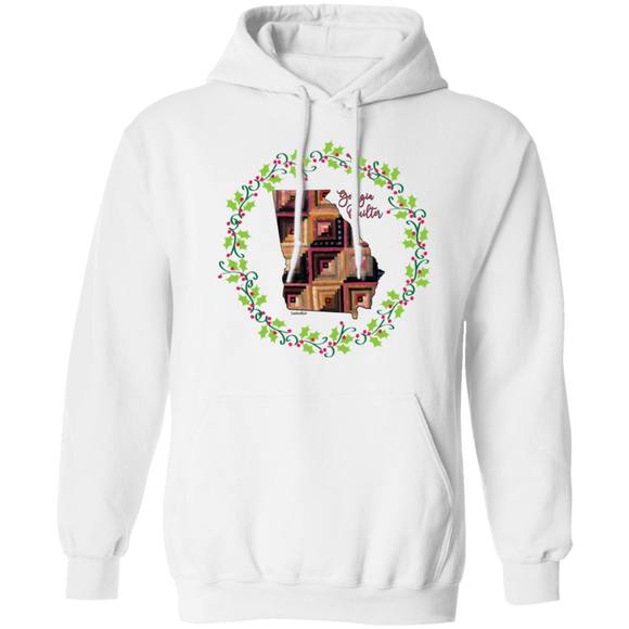 Georgia Quilter Christmas Pullover Hoodie