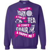 A Ball of Yarn, A Happy Me Crewneck Sweatshirts - Crafter4Life - 8