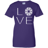 LOVE Quilting Ladies Custom 100% Cotton T-Shirt - Crafter4Life - 14