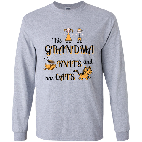 Grandma-Knit-Cats LS Ultra Cotton T-Shirt