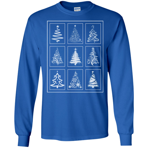 Christmas Tree Quilt LS Ultra Cotton T-Shirt