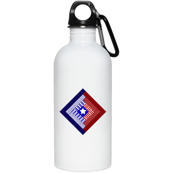 Patriotic Log Cabin Square 20 oz. Stainless Steel Water Bottle