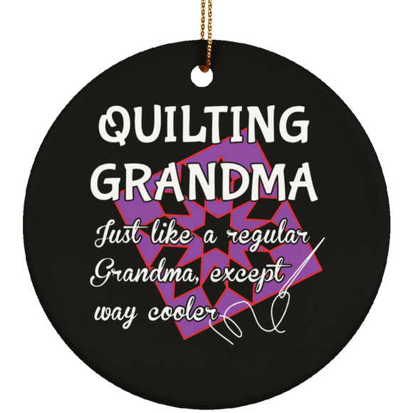Quilting Grandma Ceramic Ornaments