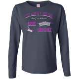 Good Day to Knit or Crochet Long Sleeve T-Shirts - Crafter4Life - 8