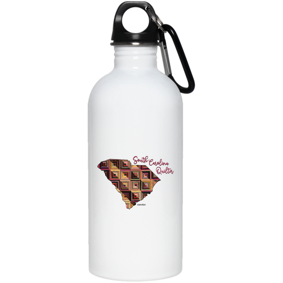 South Carolina Quilter Stainless Steel Water Bottle