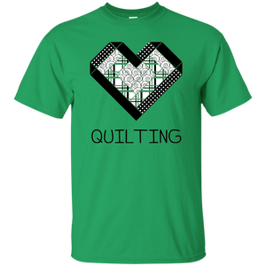 Log Cabin Heart Quilting Ultra Cotton T-Shirt