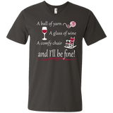 A Ball of Yarn a Glass of Wine Men's and Unisex T-Shirts - Crafter4Life - 11
