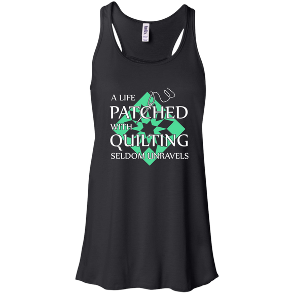Quilting Seldom Unravels Flowy Racerback Tank