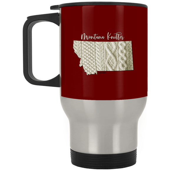 Montana Knitter Silver Stainless Travel Mug