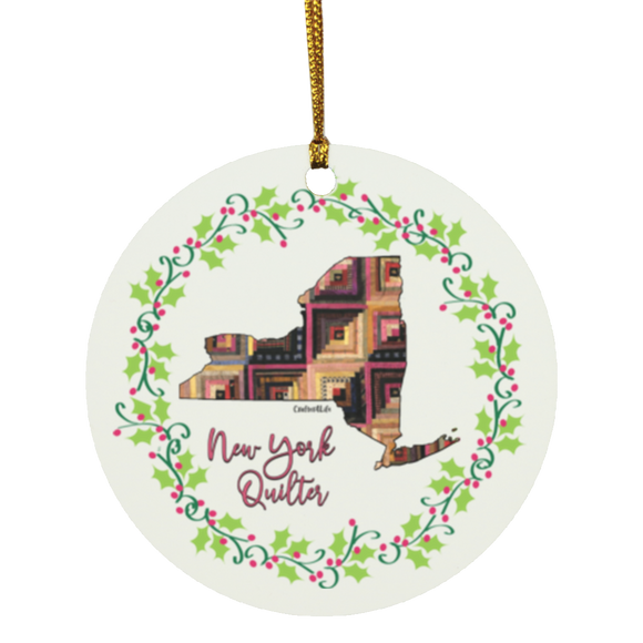 New York Quilter Christmas Circle Ornament