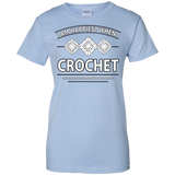 I Am Happiest When I Crochet Ladies Custom 100% Cotton T-Shirt - Crafter4Life - 4