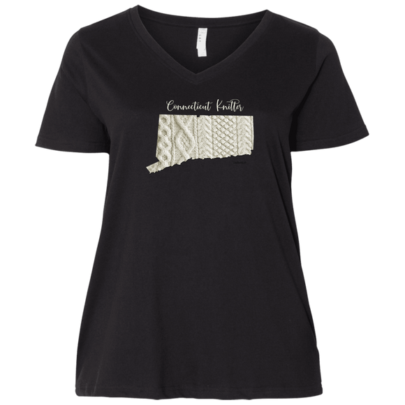 Connecticut Knitter Ladies Curvy Full-Figure T-Shirts